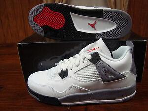 408452-103-DS-Air-Jordan-4-Retro-white-cement-grey-sz-4-5Y-4-5-Y-Youth-Boys-iv
