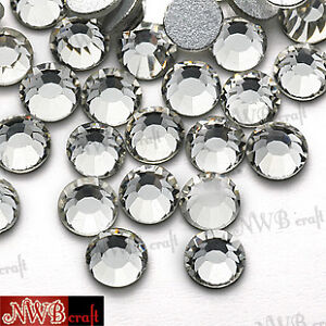 SWAROVSKI-Style-Clear-Crystals-Foiled-Flat-Back-Various-Sizes-2mm-3mm-4mm