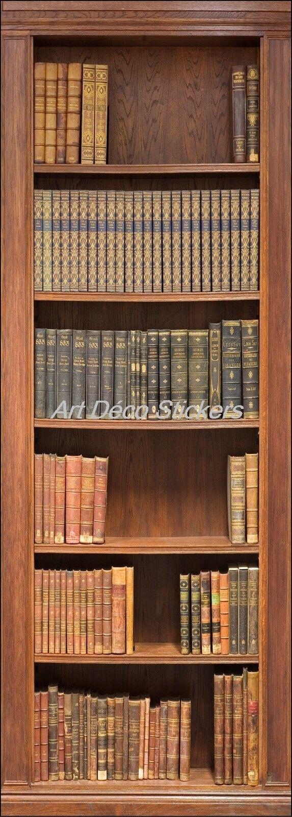 Cartel Póster Puerta Decoración Trampantojo Biblioteca Ref 201 (4 Tallas)