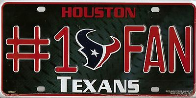 Houston Texans #1 Fan License Plate NFL
