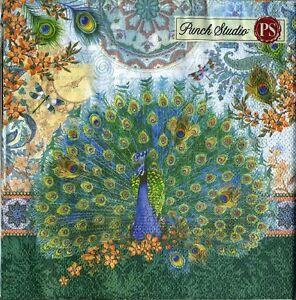 Punch-Studio-Luncheon-Napkins-20-pack-Royal-Peacocks-53664