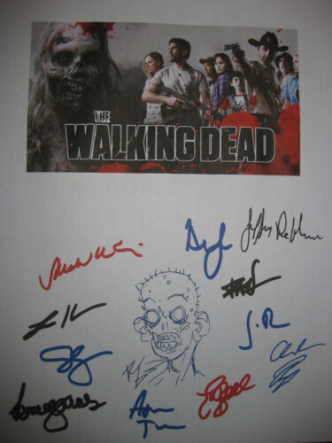 The Walking Dead Signed TV Script X12 Andrew Lincoln Kirkman Callies Holden rpnt