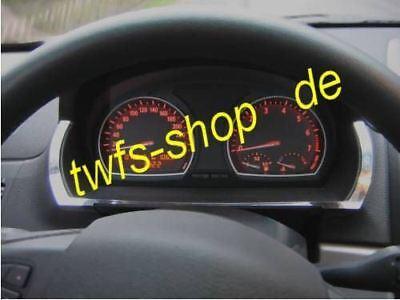 D BMW X3  Chrom Rahmen Tachogehäuse  Edelstahl poliert