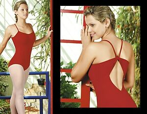 NEW-WOMENS-DANCE-BALLET-LEOTARD-WITH-A-GATHERED-BUST-amp-THIN-STRAPS-COLORS
