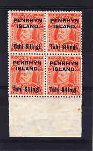 PENRHYN-1914-1-IN-BLOCK-OF-FOUR-SG-23-MNH
