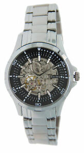 Men-039-s-Elgin-Automatic-Watch-with-Skeleton-Front-amp-Back