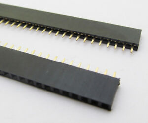 5x-40Pin-Female-IC-Single-Row-Flat-Header-Socket-2-54mm