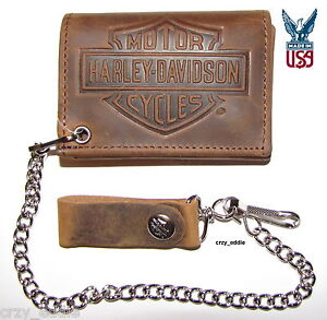 HARLEY-DAVIDSON-BAR-amp-SHIELD-DISTRESSED-LEATHER-WALLET-MADE-IN-THE-USA-NWT