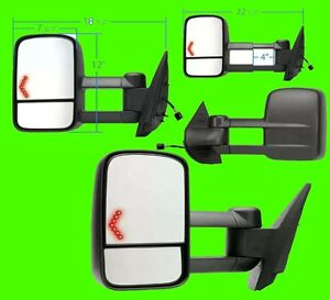chevy silverado gmc sierra 1500 2500hd 3500hd 2008 2011 power signal tow mirror ebay. Black Bedroom Furniture Sets. Home Design Ideas