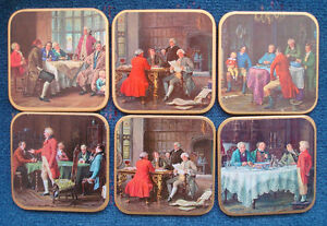 WIN-EL-WARE-mid-century-coasters-in-box-Colonial-statesmen-made-in-England