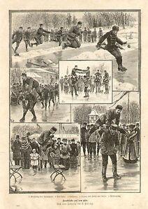 Ice-Skating-Athletics-Dancing-Jumping-1894-Original-German-Antique-Art-Print