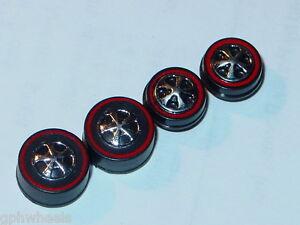 Hot-Wheels-Redline-HK-WHEELS-2-Medium-2-Small-Black-Bearing-Set-of-4-NEW
