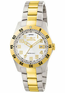 Invicta-Watch-6693-Men-039-s-Invicta-II-White-Dial-Two-Tone-Stainless-Steel