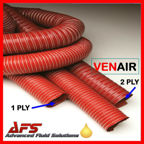 Flexible RED Hot & Cold /Warm Air Ducting Car Engine Brake Feed Intake Pipe Hose