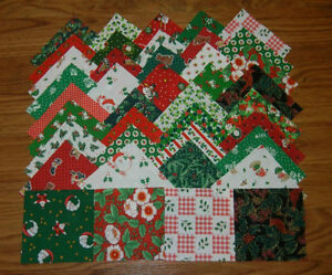 image is loading 4x4 fabric squares vintage christmas quilt blocks 20 - Vintage Christmas Fabric