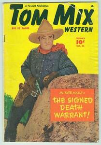 Tom-Mix-Western-25-January-1950-VG-Photo-Cover-Signed-Death-Warrant