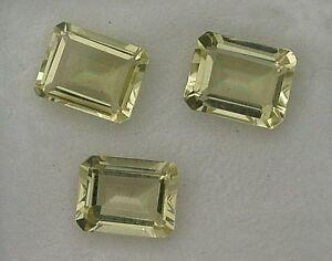 ONE-9x7-Emerald-Lemon-Citrine-Gemstone-Gem-Gemstone-9mm-x-7mm-Natural-Brazilian