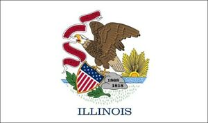 ILLINOIS-STATE-FLAG-Chicago-USA-U-S-A-American-flags