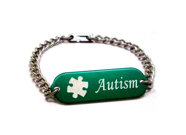 Children Medical Alert Bracelet Id Custom Engraved Autism 4 Colors Autistic