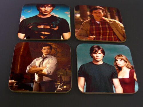 Smallville Superman Clark Kent COASTER Set