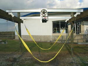 Boat lift 6000lb sl sling aluminum by lunmar free for Outboard motor lifting strap
