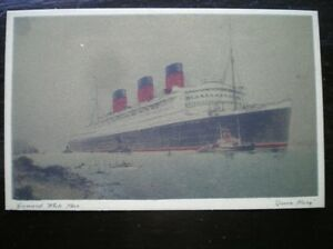 POSTCARD QUEEN MARY CUNNARD WHITE STAR GOLD TINTED 1930 CRUISE LINERS - Tadley, United Kingdom - Full Refund less postage if not 100% satified Most purchases from business sellers are protected by the Consumer Contract Regulations 2013 which give you the right to cancel the purchase within 14 days after the day you receive th - Tadley, United Kingdom
