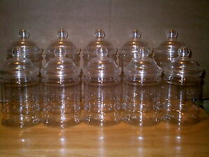 10-X-EMPTY-PLASTIC-VICTORIAN-SWEET-CANDY-JAR-5-Large-5-Small