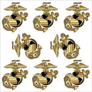 Marine-Corps-Eagle-Globe-and-Anchor-039-EGA-039-Eight-Pack-1-8-034-x-1-5-034-Hard-Hat-Decals