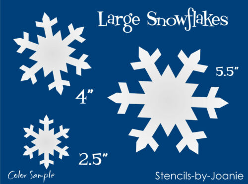 STENCIL Snowflake Shapes Primitive Winter Christmas Signs Craft Boxes Pillow
