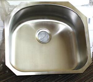 Undermount Utility Sink Stainless Steel : Details about Undermount Stainless Steel D Shape Utility Sink 18 gauge