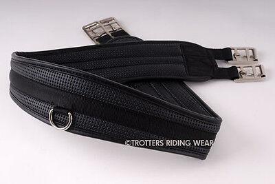 "Rhinegold comfort Girth horse/cob/pony - sizes 38"" - 56"" in stock black"