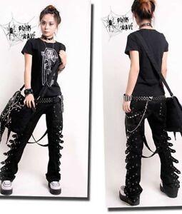 VISUAL-KEI-PUNK-rave-rock-cool-gothic-Japan-Kera-NANA-COOL-Pants-Trousers-S-XXL