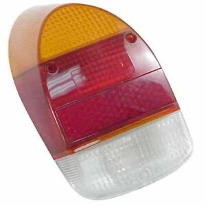 VW-Bug-Rear-Tail-Light-Lens-68-70-Amber-Red-Style-Ea