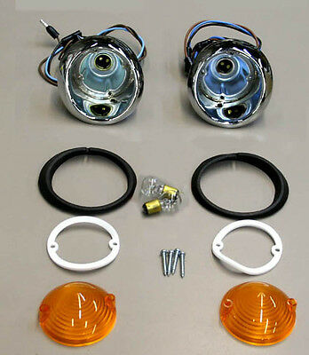 1966 Mustang Parking Light Lamp Lights Pair Lenses and Gaskets TURN SIGNALS