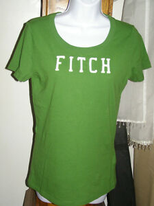 Abercrombie-MARY-T-Shirt-Green-L-New-34-Tag
