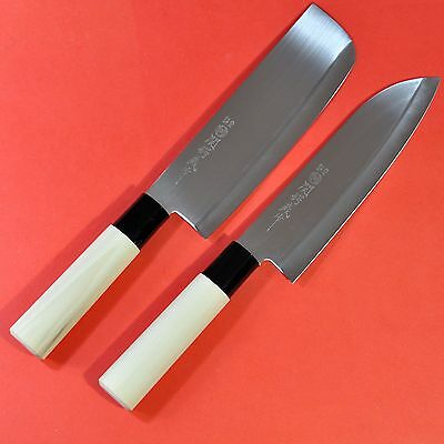 Set Japanese kitchen chef knife YAXELL santoku nakiri couteau japonais Japan Box