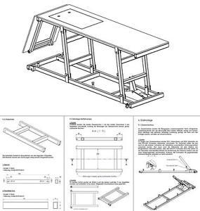 bauplan bauanleitung zum bau einer motorrad hebeb hne f r. Black Bedroom Furniture Sets. Home Design Ideas