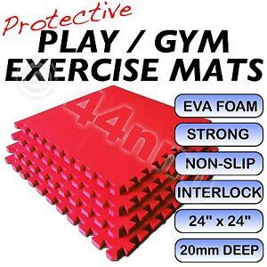 20mm-Deep-RED-Interlocking-Floor-Mats-Tiles-Judo-Ju-Jitsu-Karate-Yoga-Pilates