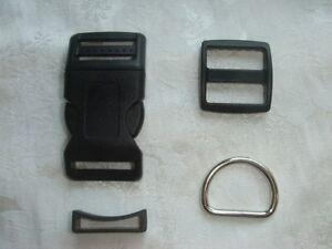 1'' -Dog collar hardware kits-5 sets, work with 1'' (25mm) webbing-free shipping