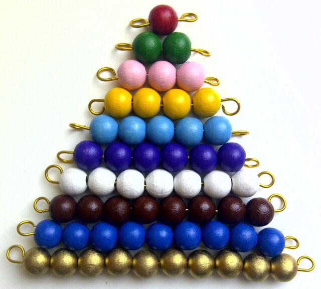Montessori Material 1 - 10er Einmaleins 5x Perlenmaterial Lernspielzeug Rechnen