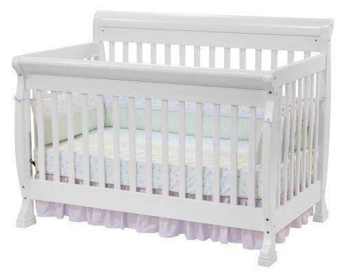 DaVinci Kalani 4-in-1 Convertible Wood Baby Crib in White ...