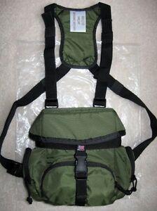 REGULAR-Olive-Drab-BINOCULAR-CHEST-PACK-Case-Strap-Harness-Swarovski-Leica-Zeiss