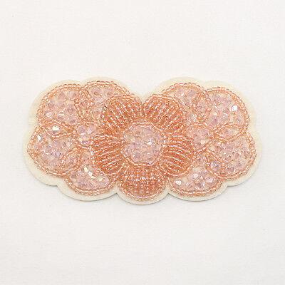 Flower Rhinestone applique beads Headband Hair Accessories Clip Headpiece 32
