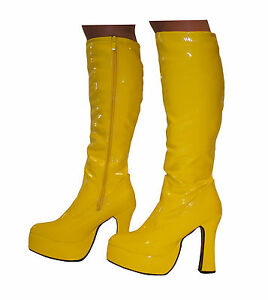Platform Boots - Disco Style GoGo 60s / 70s Boots - Size ... - photo #47