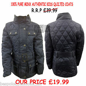 NEW-GIRLS-100-PURE-MINX-AUTHENTIC-KIDS-QUILTED-COAT-JACKET-WITH-BELT-RRP-39-99