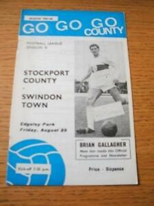 25081967 Stockport County v Swindon Town  Slight Cre - <span itemprop=availableAtOrFrom>Birmingham, United Kingdom</span> - Returns accepted within 30 days after the item is delivered, if goods not as described. Buyer assumes responibilty for return proof of postage and costs. Most purchases from business s - Birmingham, United Kingdom