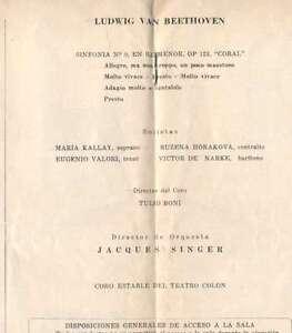 Programme-Colon-Theatre-Opera-M-Kallay-R-Horakova-1959
