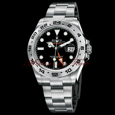 "Rolex Explorer II ""Orange Hand"" Stainless Steel 42mm Anniversary REF# 216570"