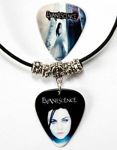 Evanescence-Guitar-Pick-Black-Leather-Necklace-Pick