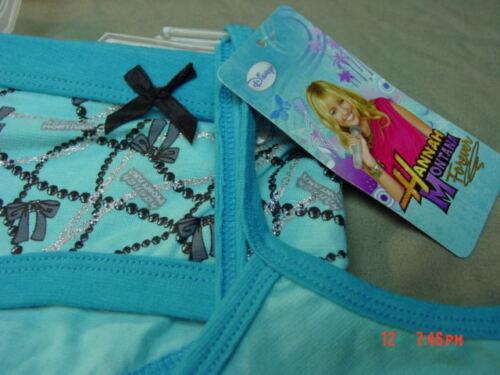 NWT Hannah Montana Miley Cyrus Aqua 2 pc Underwear set